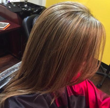 Long hair baby highlights