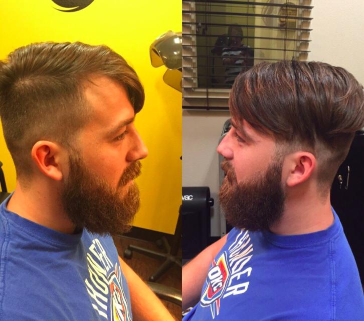 Man haircut and beard