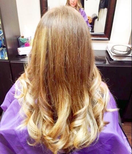 Long hair Ombré