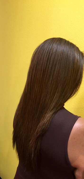 After Keratin Smoothing Treatment