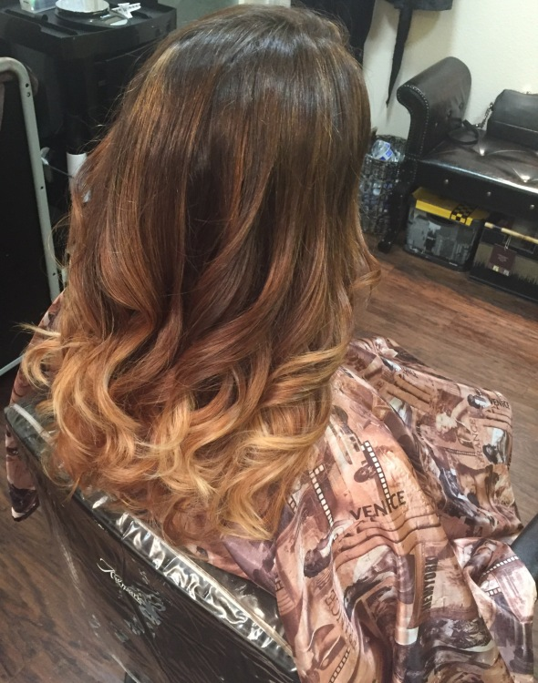 After OMBRE Hairs with BALAYAGE Highlights