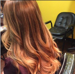 Hair color, Sombre and haircut