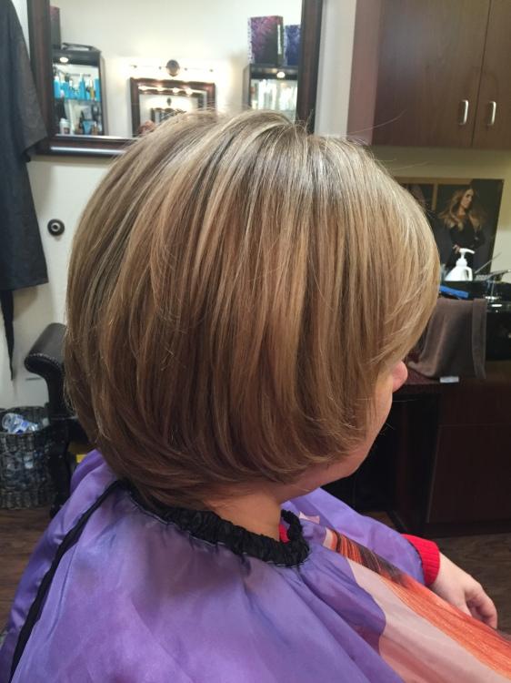 Hair cut acnd color